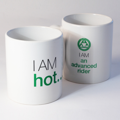 Large tea and coffee mug 'I am hot...' R83