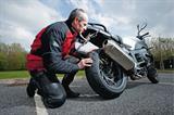 Chekcing bike tyres