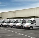 White-vans-in-a-line-fleet