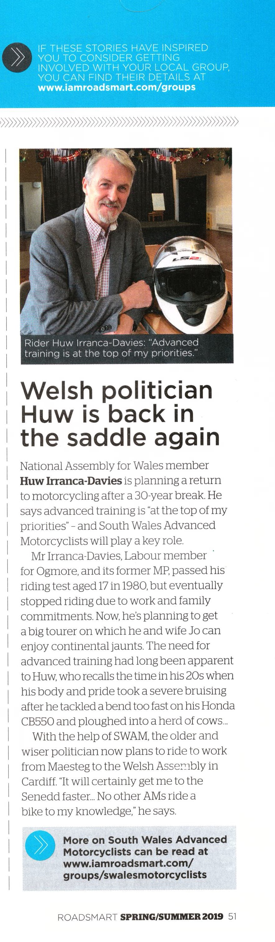 Article-Huw Irranca-Davies in saddle